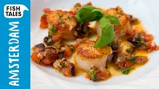 Pan-seared SCALLOPS & Antiboise Sauce | Bart's Fish Tales by Bart's Fish Tales