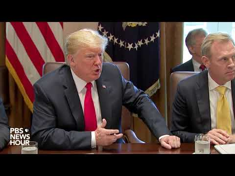 President Trump holds cabinet meeting
