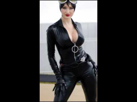 Insanely Sexy cosplay catwoman Costumes Leather