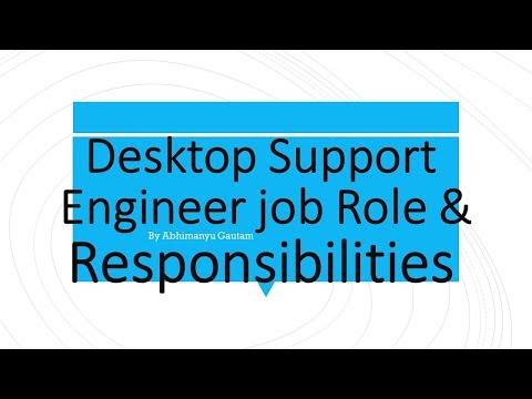 Desktop Support Engineer job Role & Responsibilities | Abhimanyu