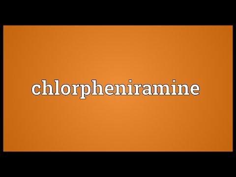 Chlorpheniramine Meaning