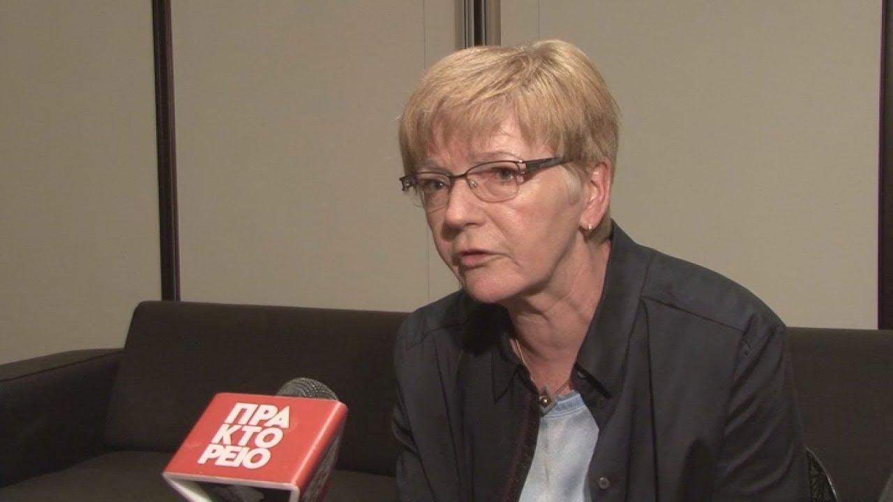 Η επικεφαλής της Ευρωομάδας της Αριστεράς Γκάμπι Τσίμερ στο ΑΠΕ-ΜΠΕ