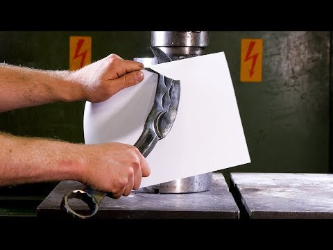 Forging a Knife From a Wrench With Hydraulic Press | in 4K