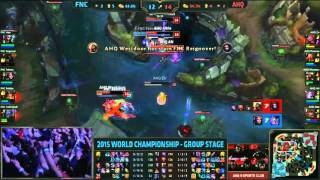 LMHT CKTG 2015 (Ngày 8): Highlight Fnatic vs ahq e-Sports Club