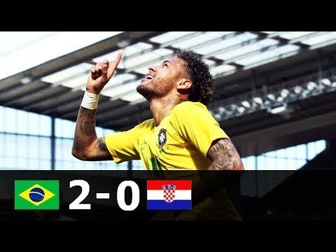 Brazil vs Croatia 2-0 - All Goals & Highlights | Neymar comeback 1080p - 3/6/2018