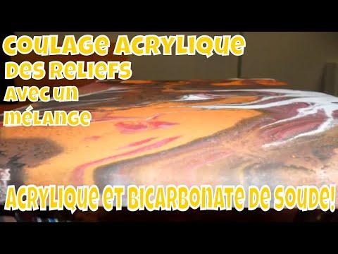 ACRYLIQUE ET BICARBONATE DE SOUDE, UN MARIAGE AU RÉSULTAT SURPRENANT!!! видео