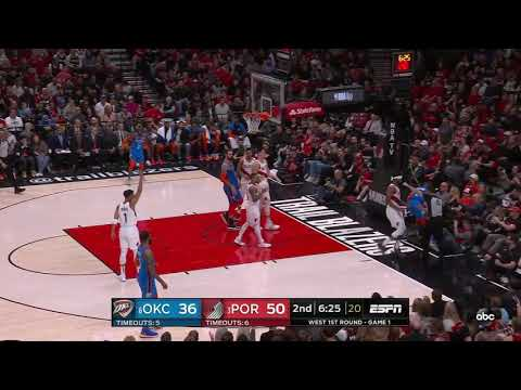 Markieff Morris 04/14/2019 Oklahoma City Thunder vs Portland Trail Blazers Highlights