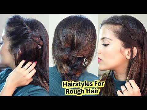 Braid hairstyles - Medium Hairstyles For Dry Rough Hair / Quick & Easy Tips  Knot Me Pretty