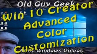 The Windows 10 Creators Update addresses the complaint that there weren't enough color selections in the Personalization section. Now you can not only can you create your own personalized color, but the system will warn you if it is not readable, the reason they hadn't given the user such granular control.