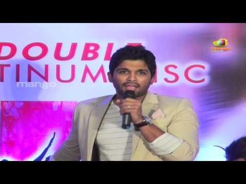 Allu Arjun imitating Brahmanandam dance - Julayi Double Platinum Disc Function