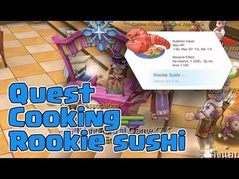 Ragnarok Cooking Rookie Sushi Quest - RO Mobile Eternal Love