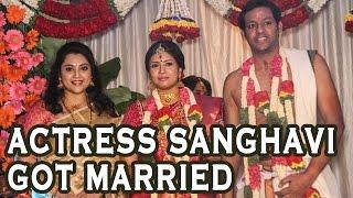 Actress Sanghavi Wedding Photoplay