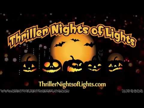 Halloween Light Show Synced to Michael Jackson s