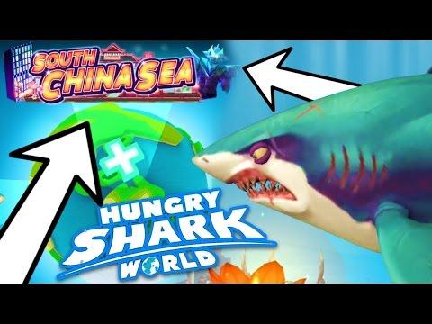 NEW SOUTH CHINA SEA MAP....!!!! (Hungry Shark World) (видео)
