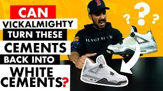 Video Can Vick Turn These Nike Air Jordan Cements Back Into White Cement IVs? MP3, 3GP, MP4, WEBM, AVI, FLV Maret 2019