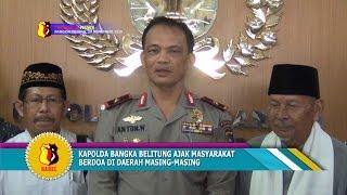 KAPOLDA BANGKA BELITUNG AJAK MASYARAKAT BERDOA DI DAERAH MASING MASING