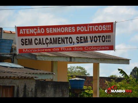 Moradores da Rua Dos Colegiais dão recado para os políticos 'Sem calçamento, sem voto'