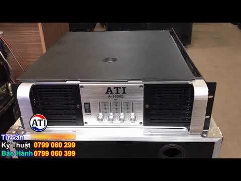 (... ĐÃ BÁN....) Thanh Lý Đẩy ATI A-1600S Giá 8.900 - Cục đẩy 4 kênh công suất lớn. LH 0799020899