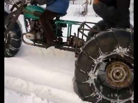 Квадроцикл на гусенице своими руками