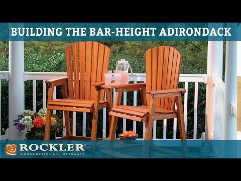 Bar Height Adirondack Chair Project