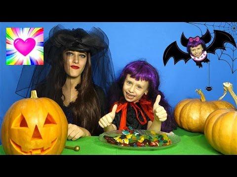 ХЕЛЛОУИН Ведьма и Вампирчик готовятся к празднику НЕLLОWЕЕN Видео для Детей Обнимашки с Машей - DomaVideo.Ru