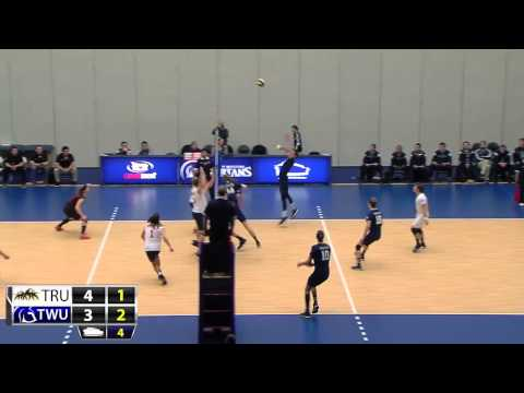 2015-02-12 TWU Men's Volleyball Highlights vs TRU