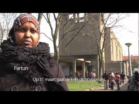 Vluchteling actiegroep Hier zijn Wij zoeken een nieuw kraakpand