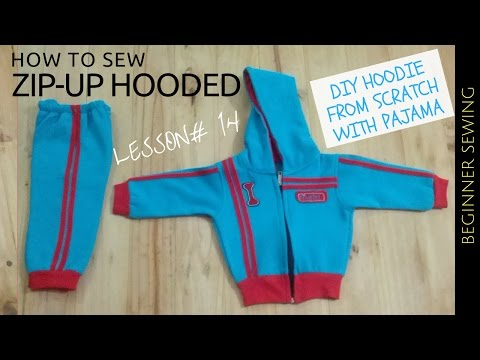 Video DIY HOODIE || How to Sew Zip-up Hooded Jacket - Beginners Sewing Lesson 14 download in MP3, 3GP, MP4, WEBM, AVI, FLV January 2017