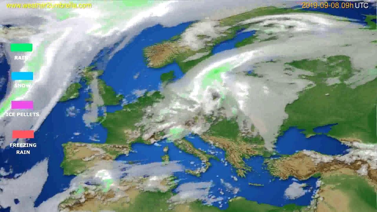 Precipitation forecast Europe // modelrun: 12h UTC 2019-09-06