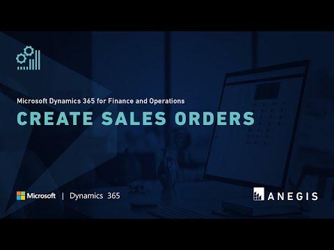 Dynamics 365 Operations: Create Sales Orders