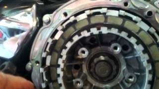 9. changing a clutch on a 98 1100 honda shadow aero.