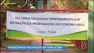 Sorocaba: playgrounds fechados em parques públicos