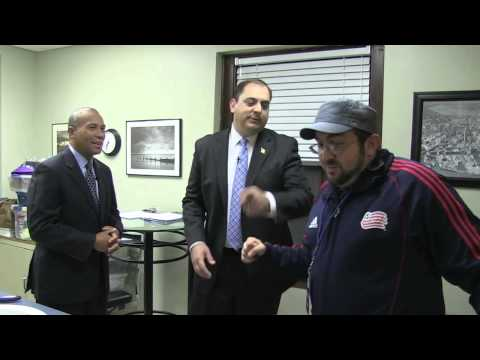 Massachusetts Governor Deval Patrick stars in the 10/10/2012 Cold Open of The Steve Katsos Show
