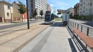 A new citadis tramway north of Paris
