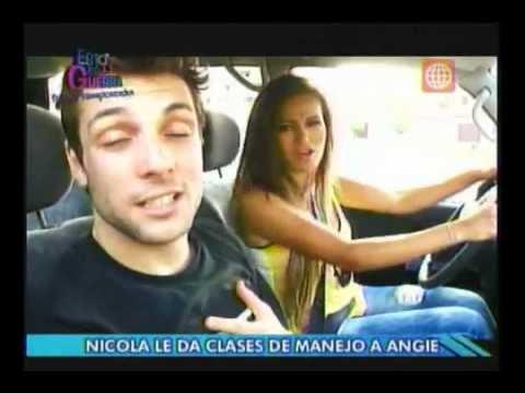 Esto es Guerra: Nicola enseña a manejar a Angie (Parte 2) - 29/11/2012