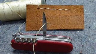 This video shows how to sew with a SWISS ARMY KNIFE using it's Awl (sometimes known as a Reamer). I show how to make a ...