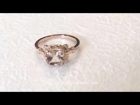 1.50 Carat Peach Morganite - Vintage Inspired Rose Gold Engagement Ring - Wren