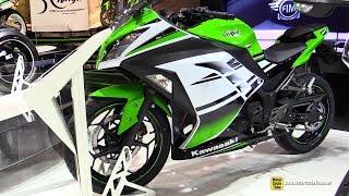 8. 2015 Kawasaki Ninja 300 30th Anniversary Edition - Walkaround - 2014 EICMA Milan Motorcycle Show