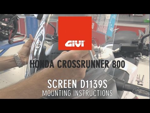 Increased windscreen for Honda 800 Crossrunner m.y.2015. Mounting instructions