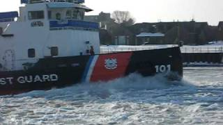 Ludington (MI) United States  City pictures : USCGC Katmai Bay 2-16-11-2, Ludington, MI 012.avi
