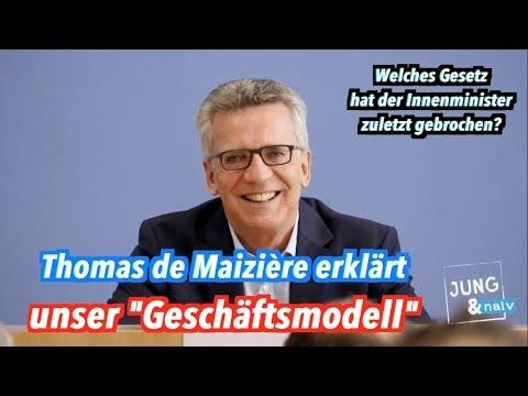 Thomas de Maizière (CDU) antwortet auf Tilo Jung: Die ...