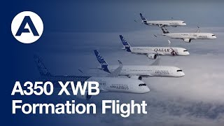 Nonton The A350 XWB test fleet joins up in formation flight Film Subtitle Indonesia Streaming Movie Download