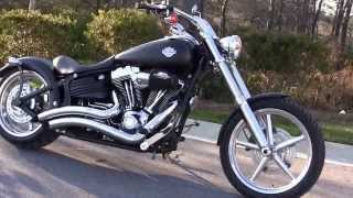 6. 2010 Harley Davidson Softail Rocker Custom Vance and Hines Exhaust