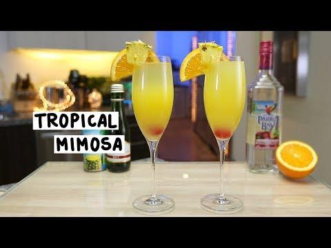 Tropical Mimosa - Tipsy Bartender