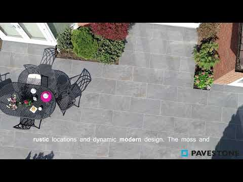 Video of 1000mm x 500mm Dolomite Dark Porcelain Paving 32 Pieces