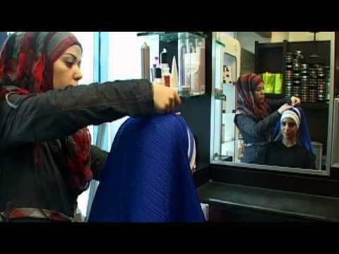 وضع الحجاب بطريقة مميزة