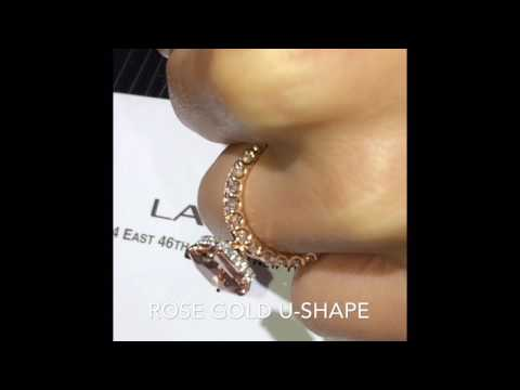 3.40 ct Cushion Cut Morganite Engagement Ring