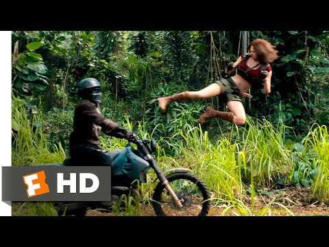 Jumanji: Welcome To The Jungle (2017) - Motorcycle Assault Scene (2/10) | Movieclips