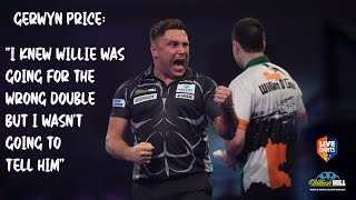 "Gerwyn Price: ""I knew Willie was going for the wrong double but I wasn't going to tell him"""