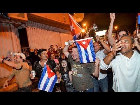 Kuba: Fidel Castro - Exil-Kubaner in Florida feiern